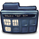 Tardis DarkSlateGray icon