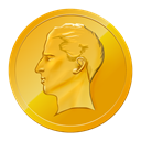 Finance, base, gold, Cash, napoleon, Money, coin Goldenrod icon