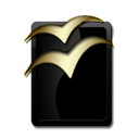 Openoffice Black icon