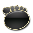 Gomplayer Black icon