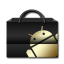 Android, market Black icon