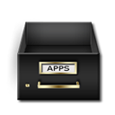 Applications, Drawer Black icon