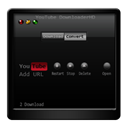 youtube, Downloader Black icon