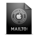 mailto, location Black icon