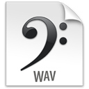 Wav, z, File WhiteSmoke icon