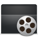 video, Folder DarkSlateGray icon