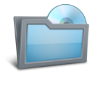 Disk, Folder SkyBlue icon