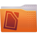 Folder, documents Chocolate icon
