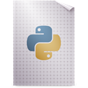 Gnome, mime, bytecode, Application, Python LightGray icon