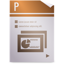 Opendocument presentation LightGray icon