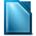 libreoffice, writer SteelBlue icon
