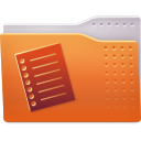 Text, Folder Chocolate icon