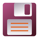 Filesave Brown icon