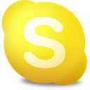 Contact, Skype, away Gold icon