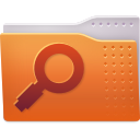 search, saved, Folder Chocolate icon