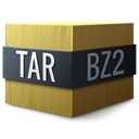 Compressed, bzip, Tar Black icon