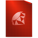 Text, ruby Firebrick icon