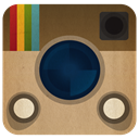 Insagram DarkKhaki icon