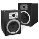 speakers, twin, experience DarkSlateGray icon