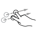 flick, Finger, two, Gestureworks Black icon