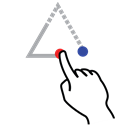 triangle, stroke, Up, shape, Gestureworks Black icon