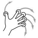 Gestureworks, five, rotate, Finger Black icon