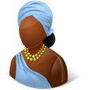 Female, African Black icon