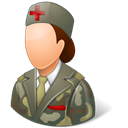 Female, Armynurse Black icon