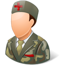 Armynurse, male Black icon