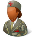 Armynurse, Dark, Female Black icon