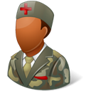 male, Armynurse, Dark Black icon