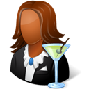 Bartender, Female Black icon