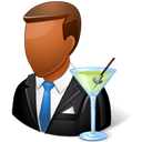 male, Bartender Black icon