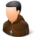 Catholic monk Black icon
