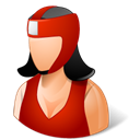 Female, boxer Black icon