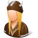 viking, Female Black icon