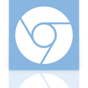 chromium, Mirror, google SkyBlue icon