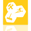 Utilities, Up, Mirror, tune Gold icon