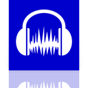 Audacity, Mirror MediumBlue icon