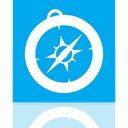 safari, Mirror DeepSkyBlue icon