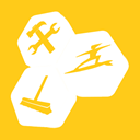 Utilities, tune, Up Gold icon