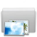 Folder, picture, Graphite LightGray icon