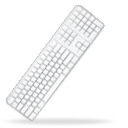 Apple, Keyboard WhiteSmoke icon