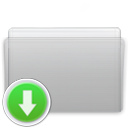 Folder, drop, Graphite Icon