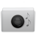 music, Folder, Graphite Silver icon