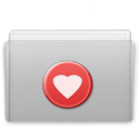 Favorite, Folder, Graphite Silver icon