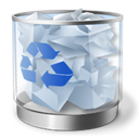 Full, Bin, recycle LightSteelBlue icon