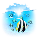 fishes, Animals DeepSkyBlue icon