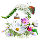 wildflowers, flowers Black icon