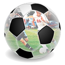 Games, soccer Black icon